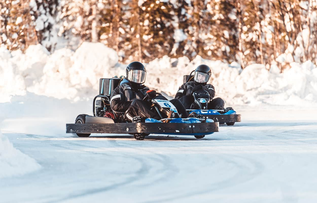 ice karting lapland finland wanderlust trips Northern Lights Trip